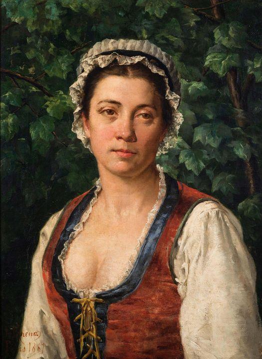 Adolfo Greno~Retrato de Josefa Garci - Old master image
