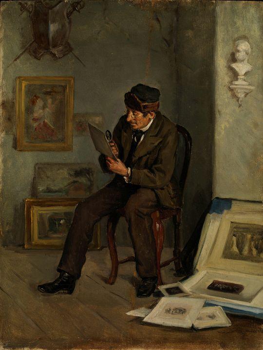 Adolf von Becker~The Art Expert - Old master image