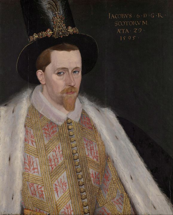 Adrian Vanson~James VI and I - Old master image