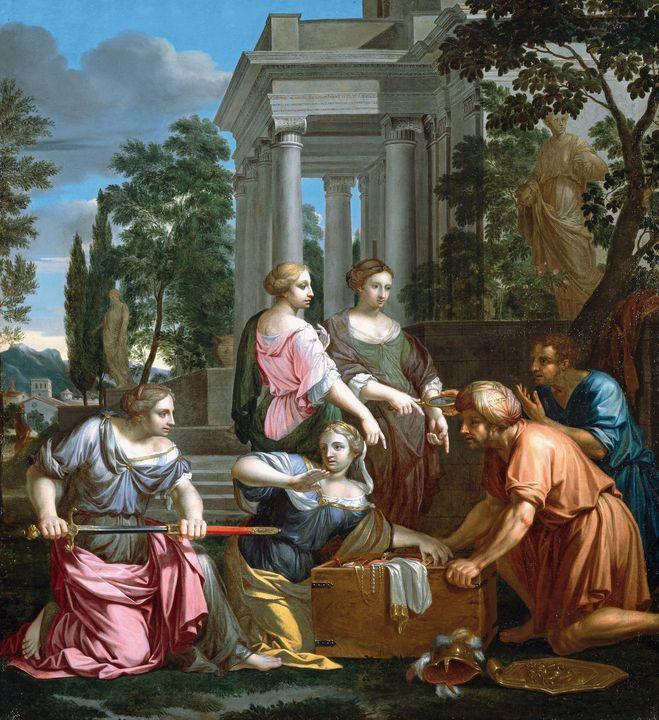Adrien Dassier~Achilles among the Da - Old master image