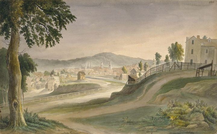 Adrien Mayers~View of Cincinnati fro - Old master image