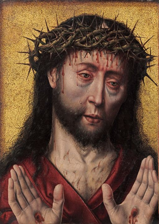 Aelbrecht Bouts~The Man of Sorrows - Old master image