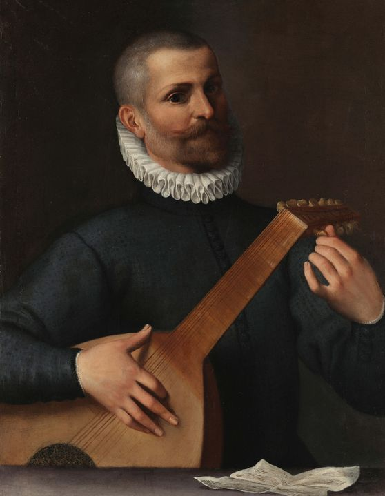 Agostino Carracci~Portrait of a Lute - Old master image