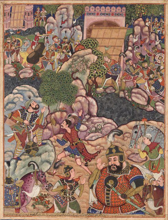 Akbar~Folio from the Hamzanama (Volu - Old master image