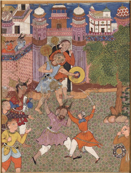 Akbar~Folio from the Hamzanama (Volu - Old master image