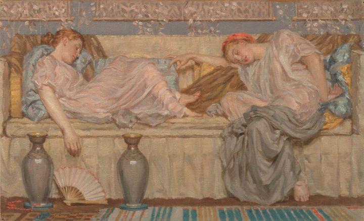 Albert Joseph Moore~Beads - Old master image