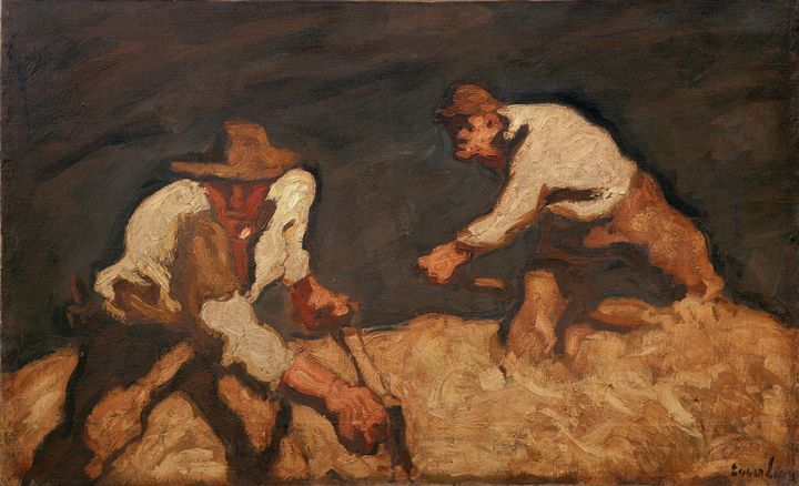 Albin Egger-Lienz~Reapers and Approa - Old master image