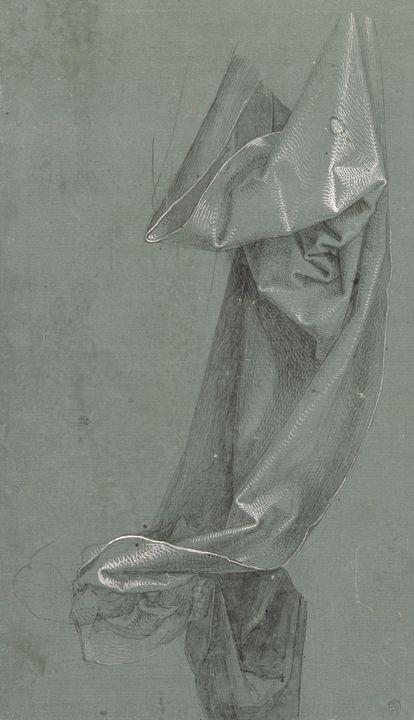 Albrecht Durer~Drapery Study - Old master image