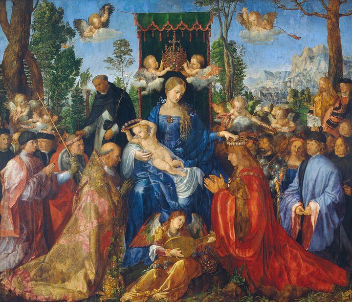 Albrecht Durer~Feast of Rose Garland - Old master image