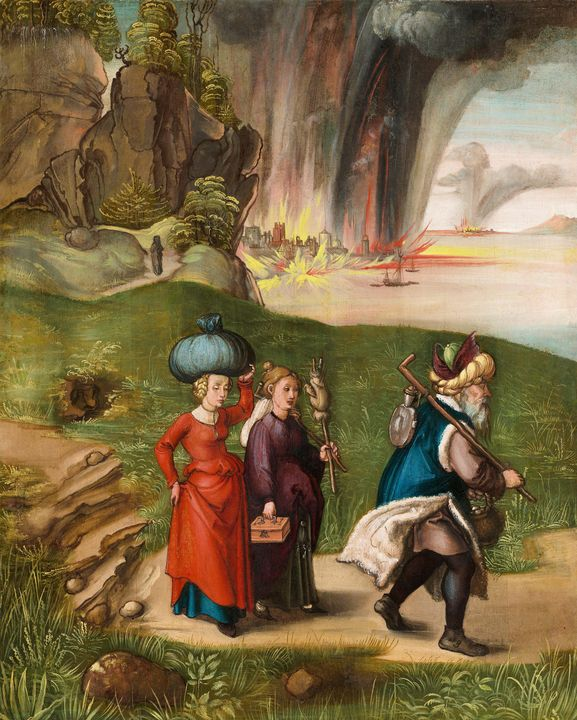 Albrecht Durer~Lot and His Daughters - Old master image