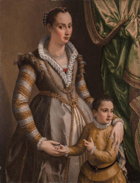 Alessandro Allori~Portrait of a Nobl - Old master image