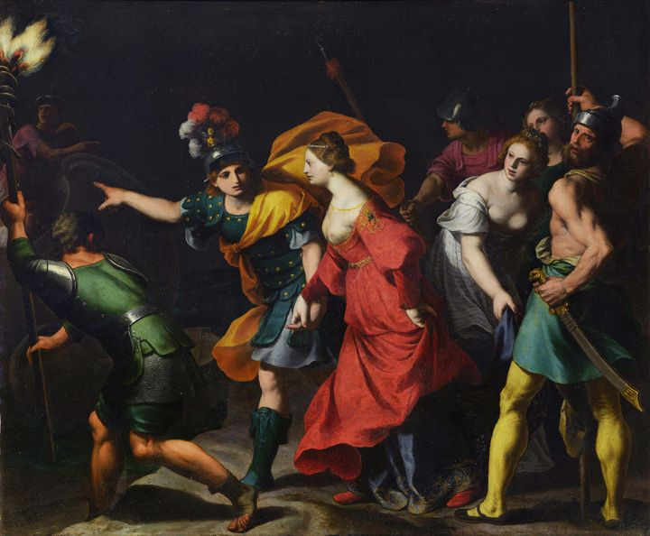 Alessandro Turchi~The Abduction of H - Old master image