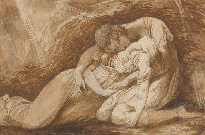 Alexander Langsiman~Celadon and Amel - Old master image