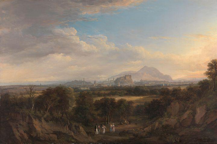 Alexander Nasmith~A View of Edinburg - Old master image