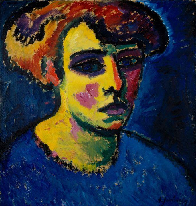 Alexej von Jawlensky~Head of a Woman - Old master image
