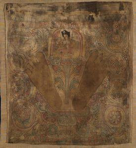 14th century~Karmapa with his footpr