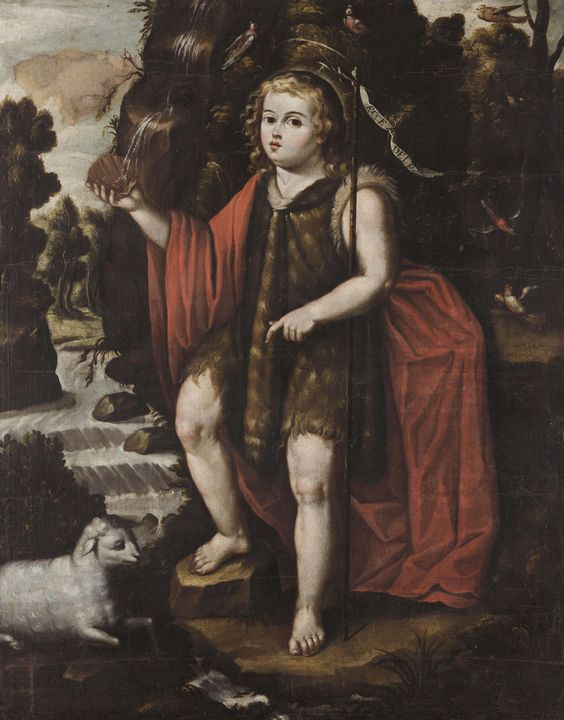 Alfonso Heredia~Saint John the Bapti - Old master image