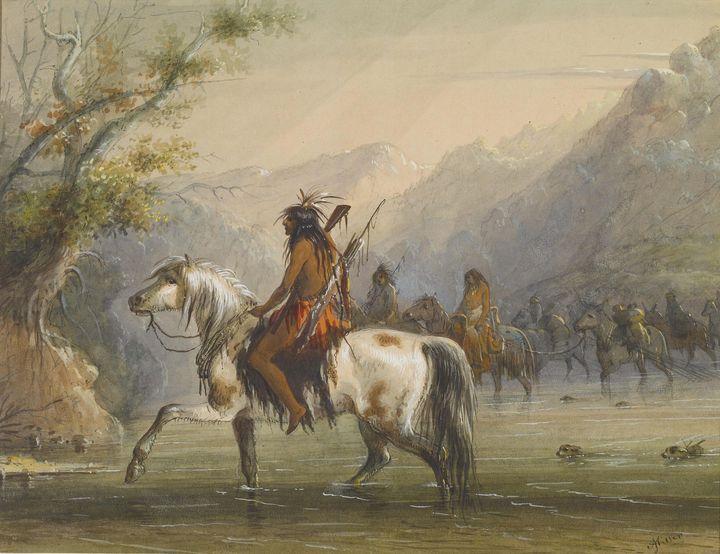 Alfred Jacob Miller ~ Shoshonee [sic - Old master image