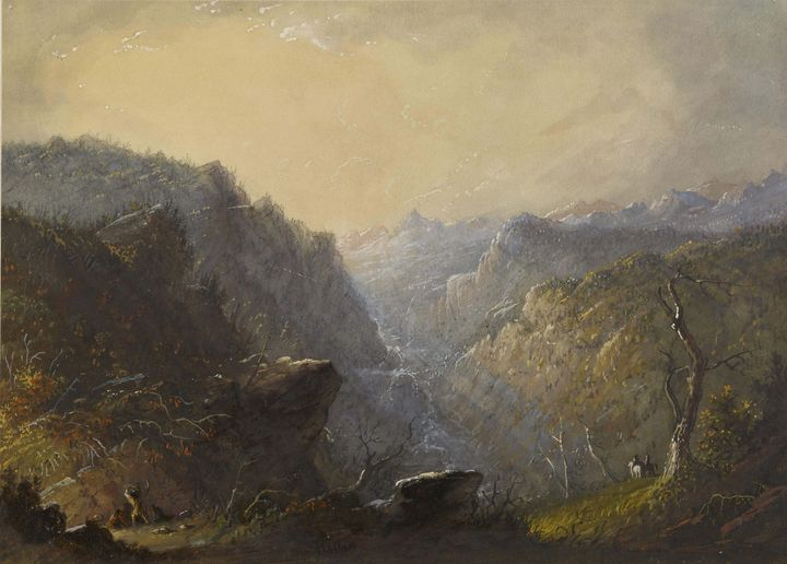 Alfred Jacob Miller ~Wild Scenery (M - Old master image