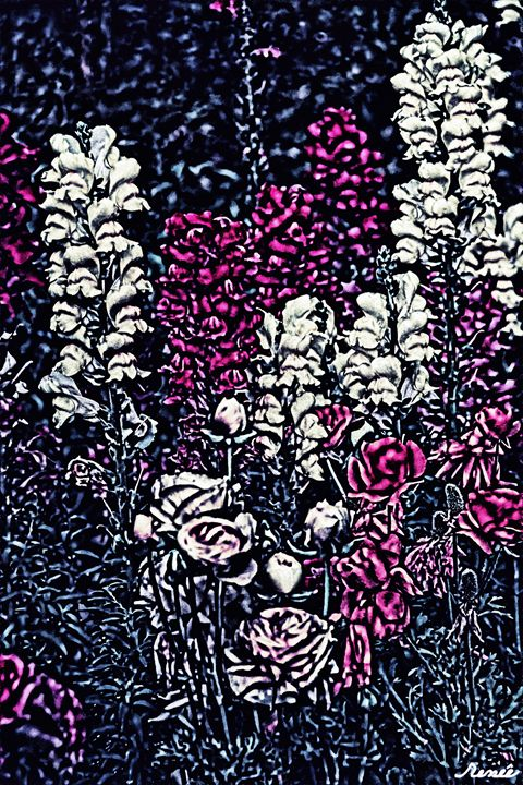 Mythical Fairy Tale Floral Forest 2 - Renee Anderson