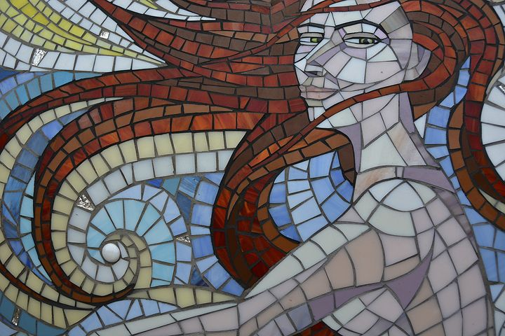 Mermaid Stained Glass Mosaic - Renee Anderson