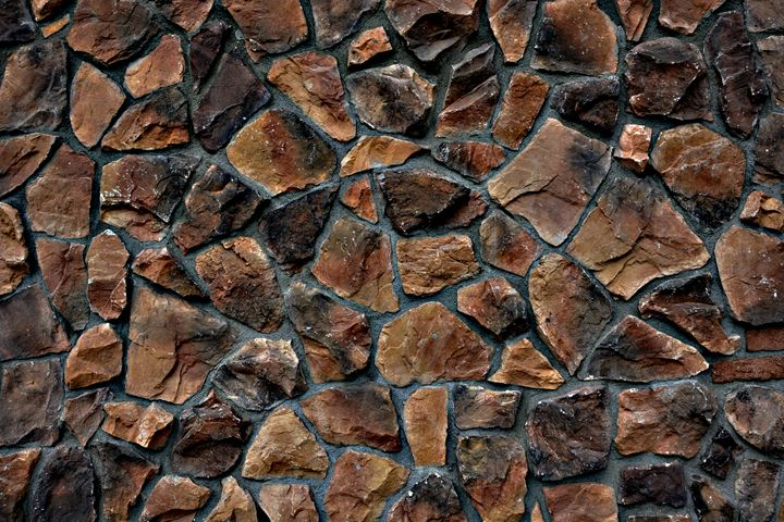 Italian Stone multi-colored Wall - Renee Anderson