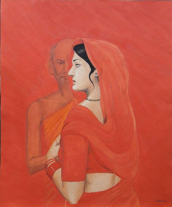 Woman And Old Man - ROYAL ART