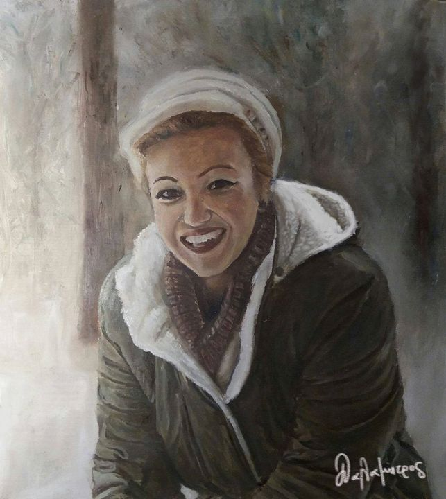 A lovely girl in a cold place - Konstantinos Dls Art