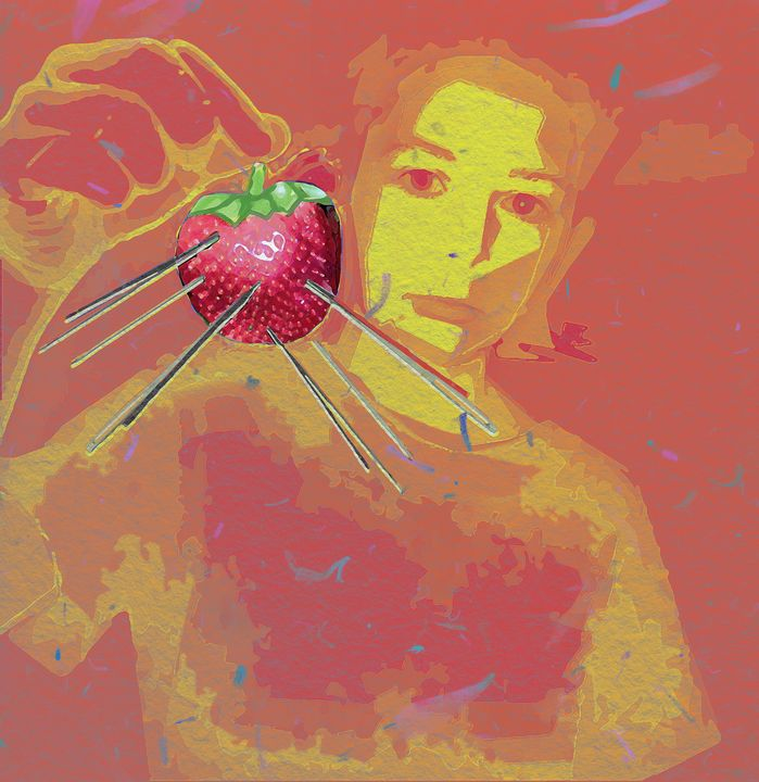Fresh Strawberry Pin Cushion - Rose Makin
