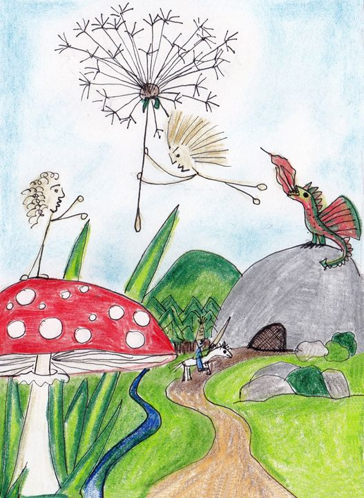 Polot flying on dandelion - Mimbla