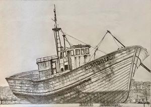 Beached Fishing Vessel