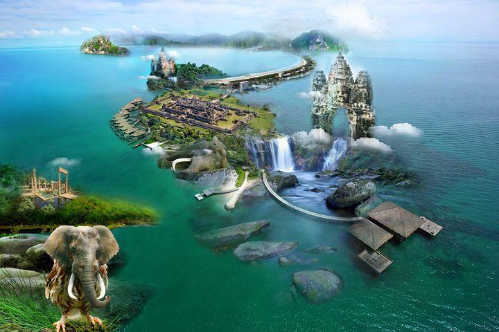 wonder island of cambodia - sokkheang-drawing