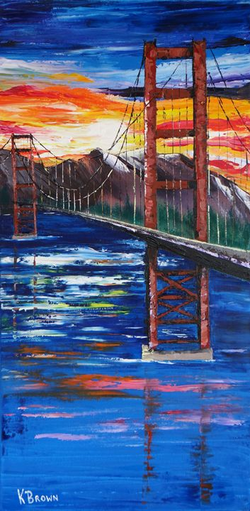 Bridge Over Ocean - Ocean Blue Paintings