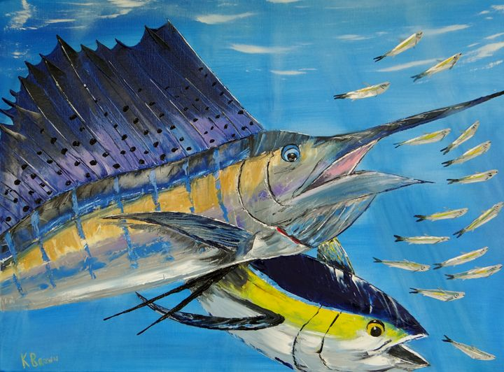 Double Trouble - Ocean Blue Paintings
