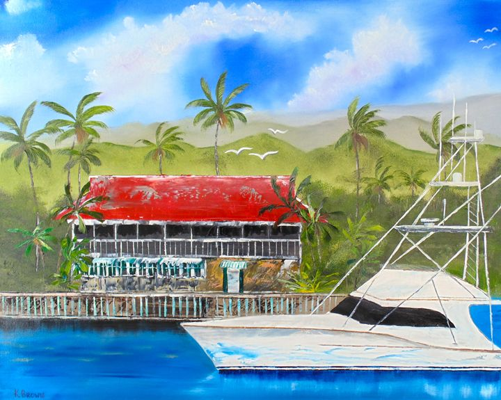 Ready for Lunch - Ocean Blue Paintings