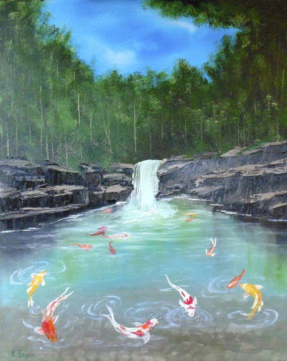 Koi Paradise - Ocean Blue Paintings