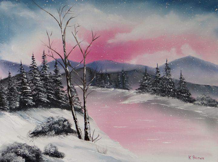 Winter Wonderland - Ocean Blue Paintings