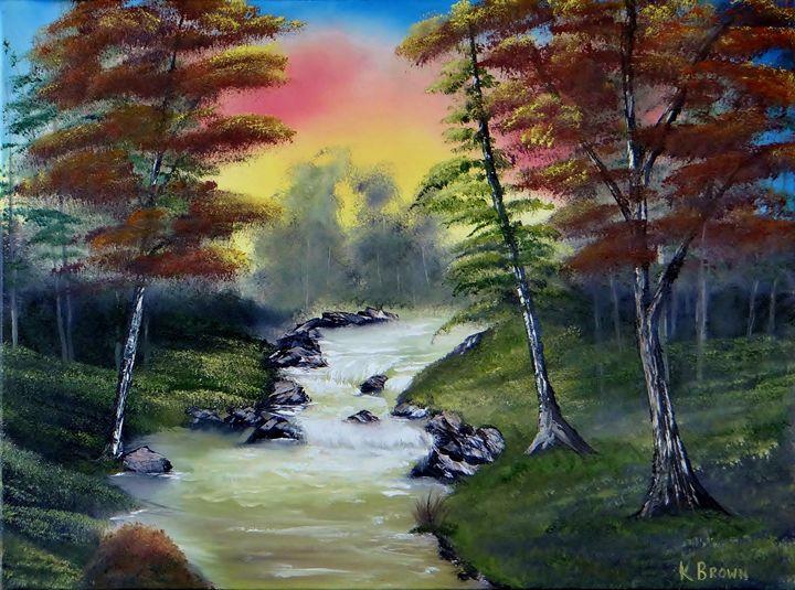 River Run - Ocean Blue Paintings