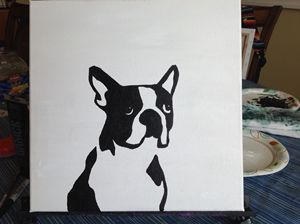 Boston Terrier Pop Art