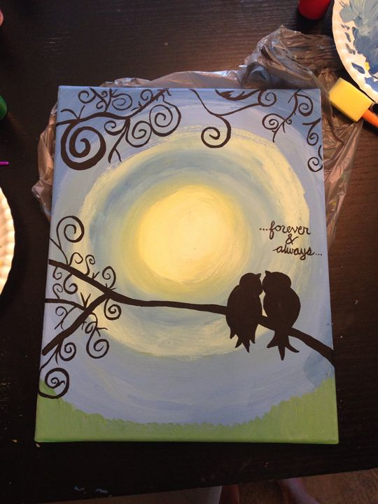 Love birds - Kylie and Abby's Paintings