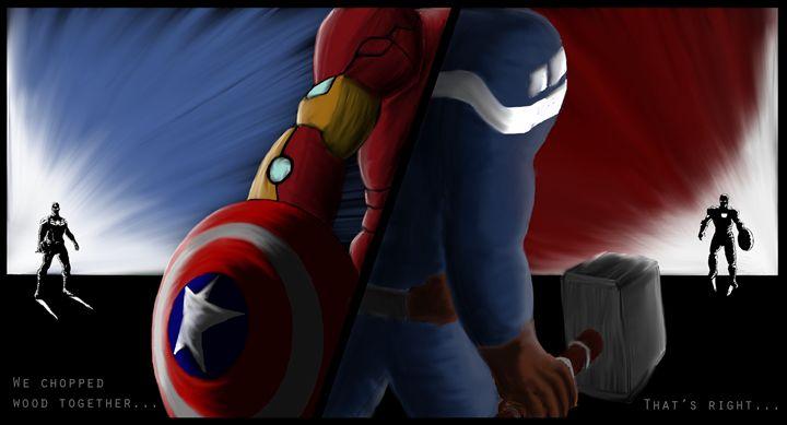 Captain America vs Iron Man - Kajun Model