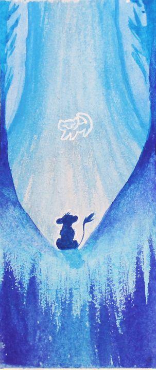 Lion King Watercolor Bookmark - Angelique Nicole