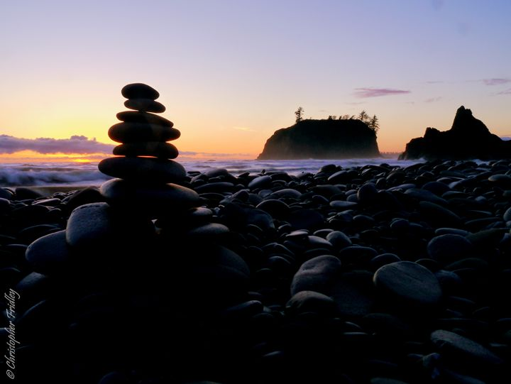 Cairn at Ruby Beach - Christopher Fridley