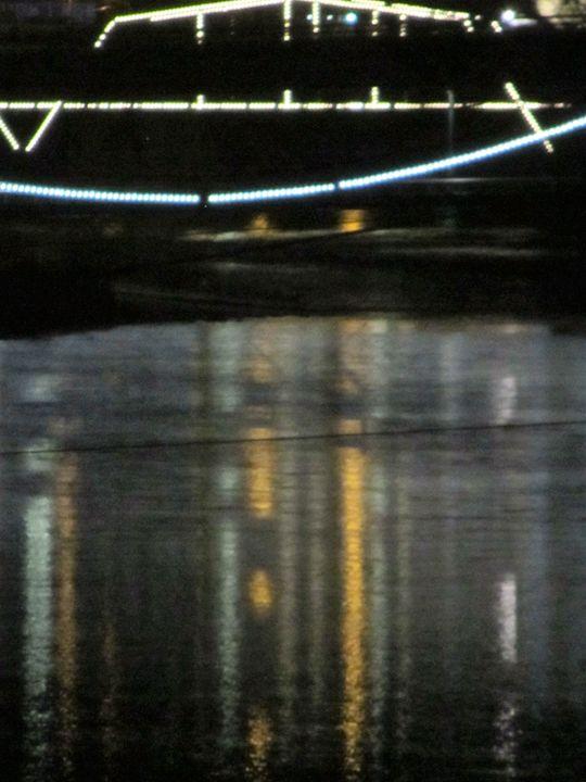 Over The Bridge To Downtown 3 - Amanda Paints LLC