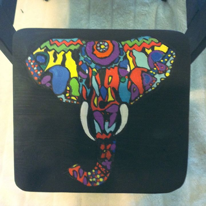 elephant design stool - Funk my Junk