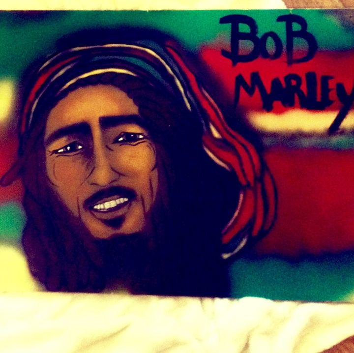 Bob Marley painting - Funk my Junk
