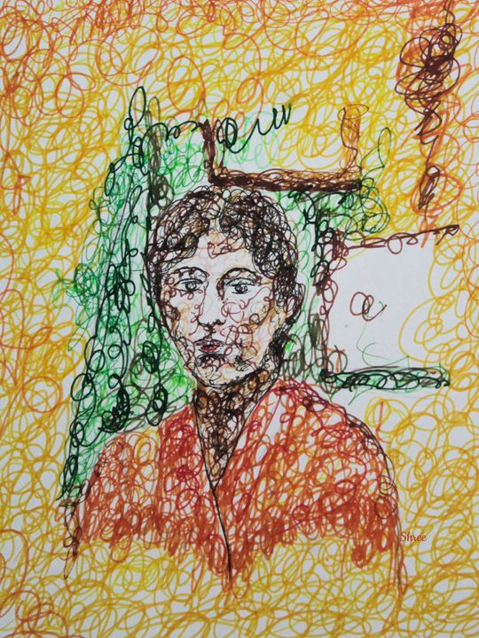 Portrait - Scribbling By shree - Shree
