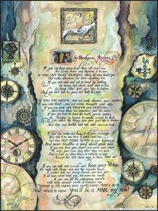 If by Rudyard Kipling - Calligraphy. - FanitsaArt