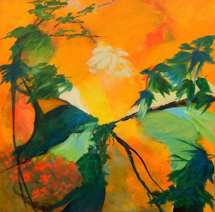 TROPICAL GARDEN - (SOLD) - Aase Lind Art