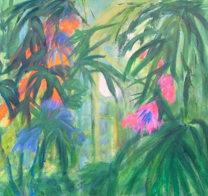 TROPICAL FLOWERS no 2 - Aase Lind Art